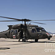 A Uh-60 Blackhawk Helicopter Art Print