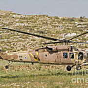 A Uh-60l Yanshuf Helicopter Art Print