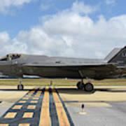 A U.s. Air Force F-35a Taxiing At Eglin Art Print