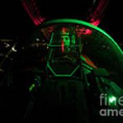 A U.s. Air Force Pilot Sits Art Print