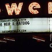A Valentines Weekend With Ratdog  Tower Theater Marquis Art Print