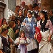 A Venetian Christening Party, 1896 Print by Henry Woods