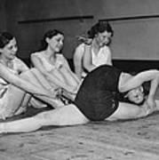 A Very Flexible Woman Art Print