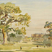 A View Of Chirk Castle, 1916 Art Print