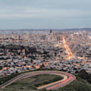 A View Of San Francisco At Twighlight Art Print