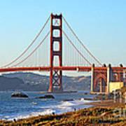 A View Of The Golden Gate Bridge From Baker's Beach  Art Print