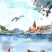 A View Of The Historical Peninsula From Uskudar - Istanbul Art Print