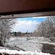 A View Of The Maunesha In A Fresh Blanket Of Snow Art Print
