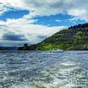 A View Of Urquhart Castle From Loch Ness Art Print