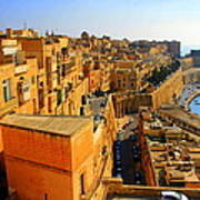 A View Of Valletta's Waterfront Art Print