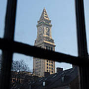 A View Out Of Faneuil Hall Art Print