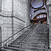 A View To The Mcgraw Rotunda Nypl Art Print