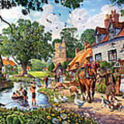 A Village In Summer Art Print