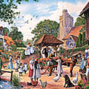 A Village Wedding Art Print
