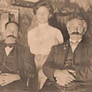 A Vintage Photo Of People Art Print