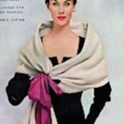 A Vogue Cover Of A Woman Wearing Balenciaga Art Print