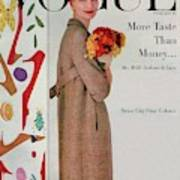 A Vogue Cover Of Sunny Harnett With Flowers Art Print