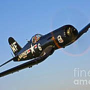 A Vought F4u-5n Corsair Aircraft Art Print