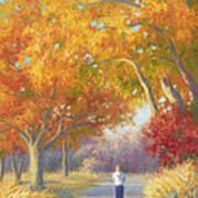 A Walk In The Fall Art Print by Lucie Bilodeau