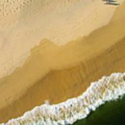 A Walk On The Beach. A Kite Aerial Photograph. Art Print by Rob Huntley