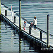 A Walk On The Pier Art Print