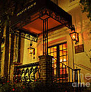 A Warm Summer Night In Charleston Art Print