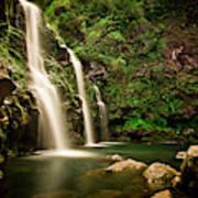 A Waterfall In Hana, Maui Art Print
