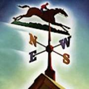 A Weathervane With A Racehorse Art Print
