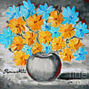 A Whole Bunch Of Daisies Selective Color II Art Print