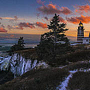 A Winter Dusk At West Quoddy Art Print
