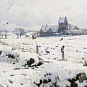 A Winter Landscape Holmstrup Art Print