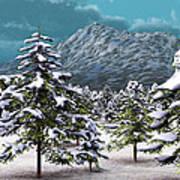 A Winter Scene... Art Print
