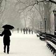 A Winter Stroll Art Print