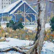 A Winter Walk In The Park Art Print by Sandra Harris