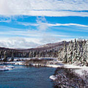 A Winter Wonderland On The Moose River Art Print