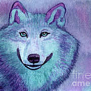 A Wolf Of A Different Color Art Print by Vikki Wicks