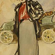A Woman Driver Art Print