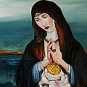A Woman In Prayer Print by Joseph Demaree