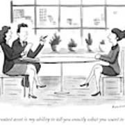 A Woman Interviews For A Job Art Print
