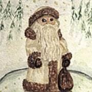 A Woodland Santa Art Print