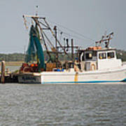 Seadrift Texas Working Boat Art Print