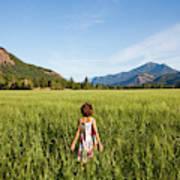A Young Girl, Daughter Of A Farmer Art Print