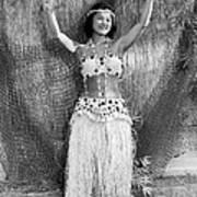 A Young Hawaiian Hula Woman Art Print