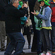 A Young Lady Posing During The 2009 New York St. Patrick Day Parade Art Print