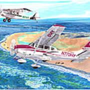 Cessna 206 And A1a Husky Art Print