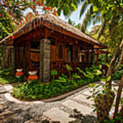 Aaramu Spa Hideaway In Tropical Garden. Maldives Art Print