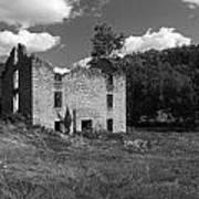 Abandon Stone House 3  Art Print