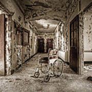 Abandoned Asylums - What Has Become Art Print by Gary Heller