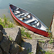 Abandoned Boat At The Quay Art Print