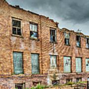 Abandoned Brick Building Art Print